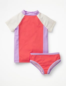 Sunset Red Colourblock Surf Set