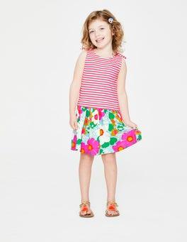 6aa6a64039 Blue Quartz Tropical Floral Hotchpotch Jersey Dress