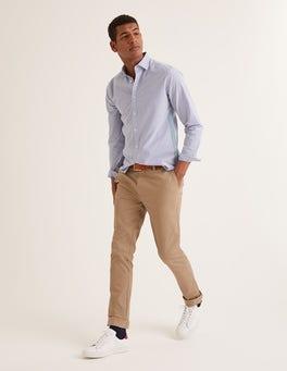 Malzbraun Klassische Chinos mit schmalem Bein