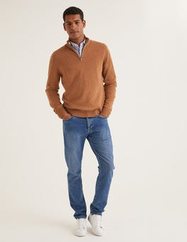 Golden Wheat Cashmere Half-Zip
