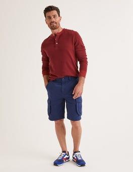 College Blue Cargo Shorts