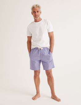 Duke/Tropical Orange Stripe Cotton Poplin Pyjama Shorts