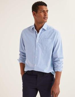 Green Baize/Duke Stripe Poplin Pattern Shirt