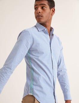 Green Baize/Duke Stripe Slim Fit Poplin Pattern Shirt