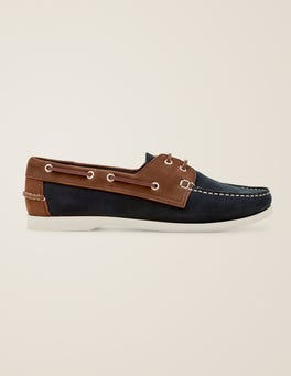 Navy/ Brown Boat Shoes