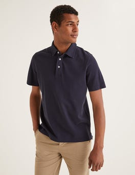 Navy Garment-dyed Polo