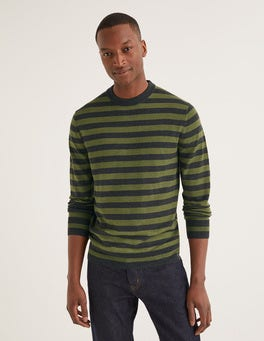 Pull col rond Amberley en laine mérinos