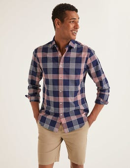 Indigo Rouge Check Slim Fit Indigo Check Shirt