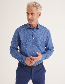 Duke Scattered Floral Printed Twill Shirt