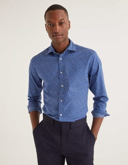 Duke Scattered Floral Slim Fit Printed Twill Shirt