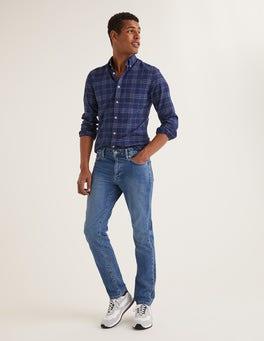 Denim, Blaue Waschung Jeans mit schmalem Bein
