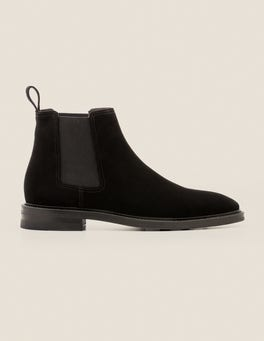 Black Suede Corby Chelsea Boot