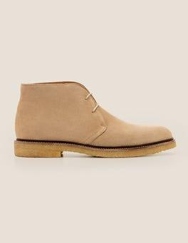 Stone Suede Desert Boots