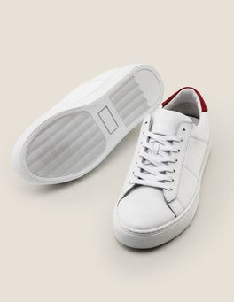 White Leather Leather Trainers