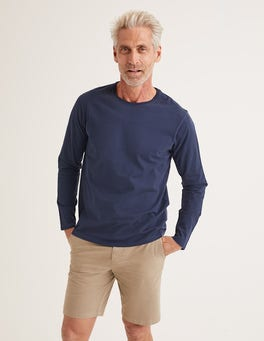 Classic Navy Long Sleeve Washed T-shirt