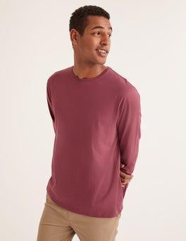 Palisanderbraun Langärmliges Vorgewaschenes Shirt