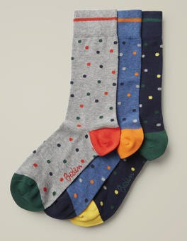 Navy Spot Pack Favourite Socks