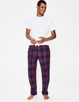 Navy Blue/Blazer Red Check Brushed Cotton Pull-ons