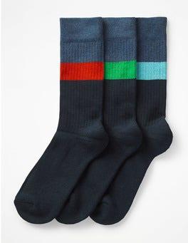 Colour Block Stripe Pack Chunky Weekend Socks