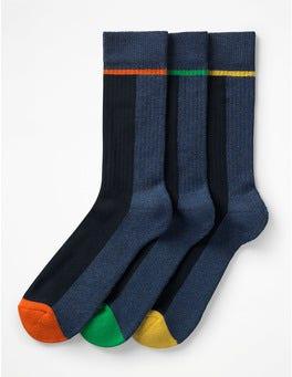 Pop Stripe Pack Chunky Weekend Socks