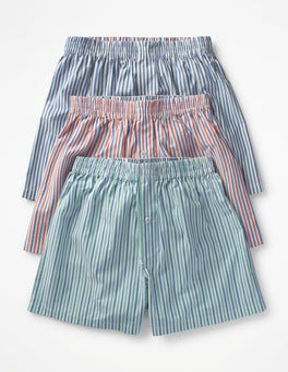 Stripe Multi Pack 3 Pack Woven Boxers