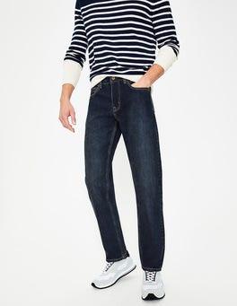 Mid Wash Denim Straight Leg Jeans
