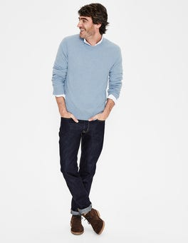 Ice Blue Marl Cashmere V-neck