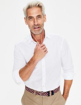 White Slim fit Poplin Cutaway Collar