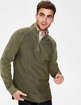 Khaki Mallory Garment-dyed Half-zip