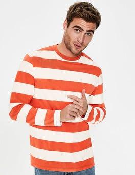Ecru/Tropical Orange Stripe Long Sleeve Stripe T-Shirt