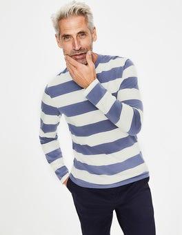 Ecru/Heather Stripe Long Sleeve Stripe T-Shirt