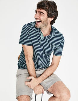 Navy/Succulent Blue Stripe Slub Polo
