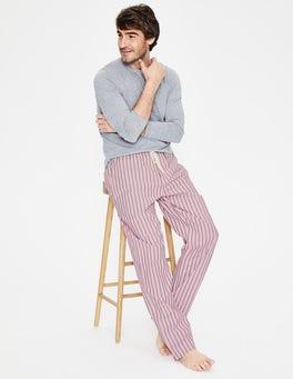 Rosa Pink/College Blue Stripe Cotton Poplin Pyjama Bottoms