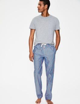 Duke/Tropical Orange Stripe Cotton Poplin Pajama Bottoms