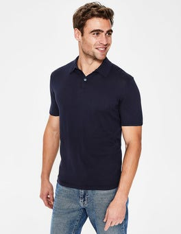 Navy Finsbury Knitted Polo