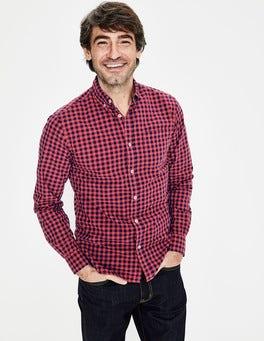 Washed Crimson Garment-dyed Poplin Shirt