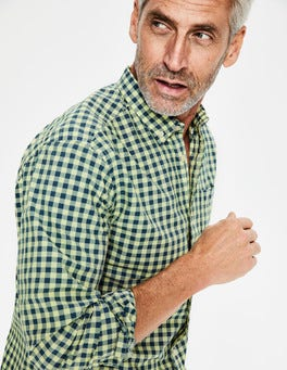 Yellow Garment-dyed Poplin Shirt