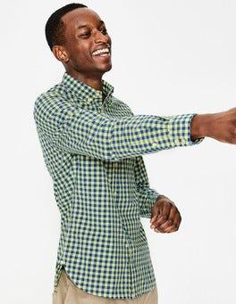 Yellow Slim Fit Garment Dye Shirt