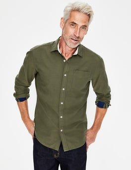 Kiwi Green Check Double Cloth Shirt