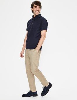 Navy Linen Cotton Popover