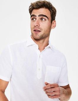 White Linen Cotton Popover