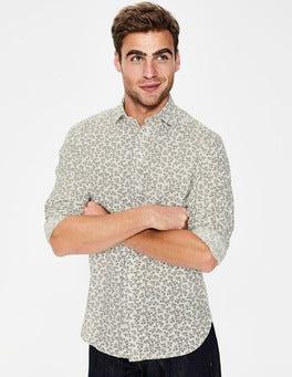Army Floral Linen Cotton Pattern Shirt