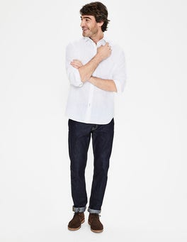 White Linen Cotton Shirt