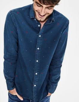 Slim Fit Indigo Shirt
