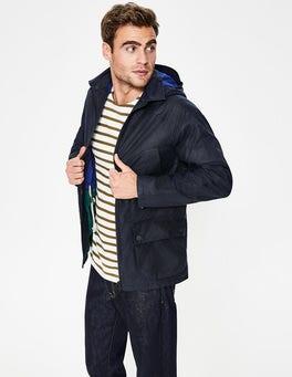 Navy Holt Waxed Jacket