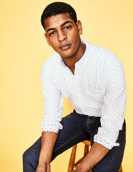 Multi Spot Clip Dot Slim Fit Oxford Pattern Shirt