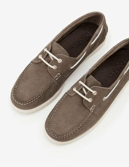 Dove Grey Boat Shoes
