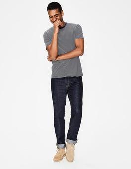 Rayé bleu marine clair T-shirt délavé