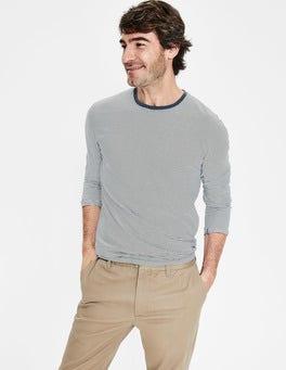 Ecru/Oceania Stripe Long Sleeve Washed T-shirt