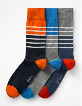 Multi Stripe Pack Favourite Socks
